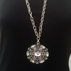 Saks Fifth Avenue Lg Gold Plated Pendant Necklace